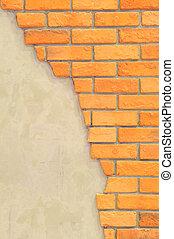 pared, texto, ladrillo, espacio