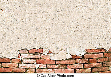 pared, texto, ladrillo, grunge, espacio