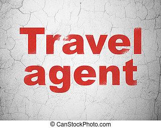 pared, viaje, vacaciones, agente, plano de fondo, concept: