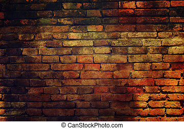 pared, viejo, ladrillo, grunge