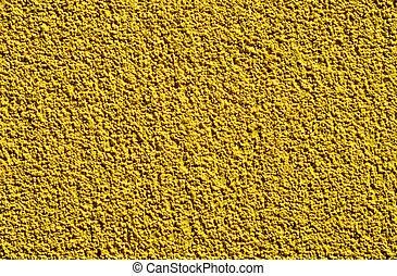 parede, áspero, detalhe, amarela