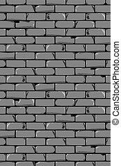 parede, antigas, cinzento, fundo