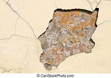 parede, antigas, deteriorar
