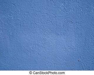 parede azul, cimento
