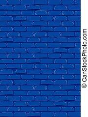 parede azul, luminoso, tijolo, fundo