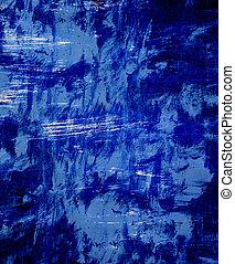 parede azul, textura, ou, fundo