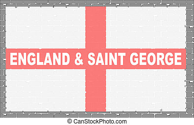 parede, bandeira, cinzento, são, george