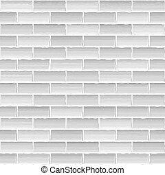 parede, branca, antigas, tijolo