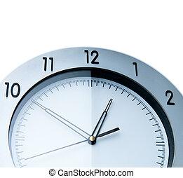 parede, branca, relógio, isolado, fundo
