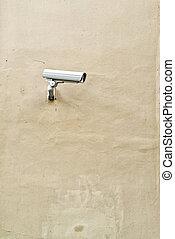 parede, câmera segurança