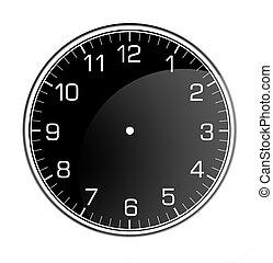 parede, clássicas, relógio