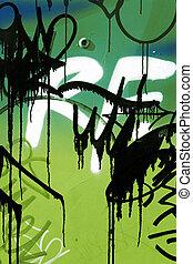 parede, close-up, graffiti