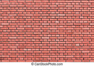 parede, colorido, pêssego, eco, fundo, tijolo