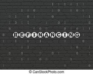 parede, concept:, finanças, fundo, refinancing