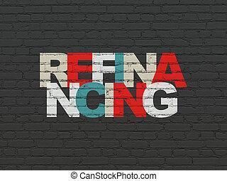 parede, concept:, fundo, refinancing, negócio