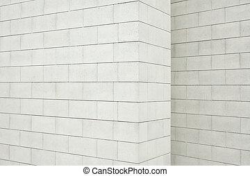 parede, concreto, bloco