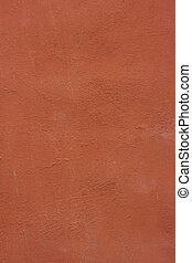 parede, concreto, envelhecido, vermelho, textura