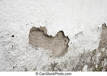 parede, danificado, umidade