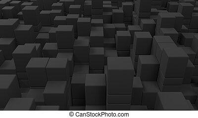 parede, de, cinzento, cubos