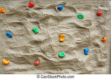 parede, escalando, rocha