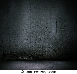 parede, experiência preta