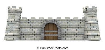 parede, fortaleza