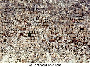 parede, foto, pedra, antigas, textura