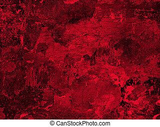 parede, gesso, antigas, vermelho, textura