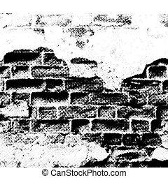 parede, grunge, vetorial
