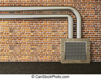 parede, industrial