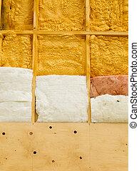 parede, isolação, energia, salvar, aquecimento