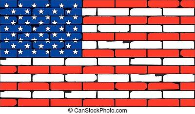 parede, listras, estrelas