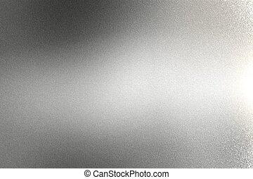 parede, luz, abstratos, metal, fundo, brilhar, escovado, prata, textura