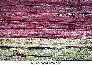 parede madeira, com, fungo