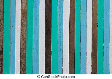 parede madeira, fundo, azul, branca