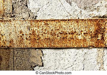 parede, manchas, pedra, ferrugem, textura