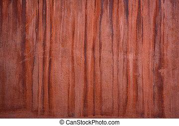 parede, marrom, gotejamentos, textura, vermelho