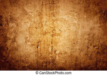 parede, marrom, textura
