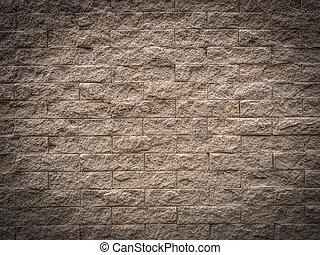parede, marrom, tijolo, fundo