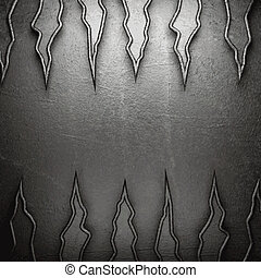 parede, metal, fundo