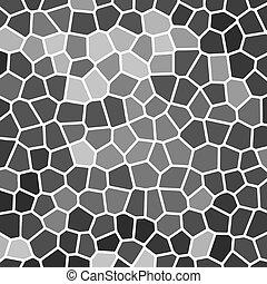 parede, mosaico, cinzento