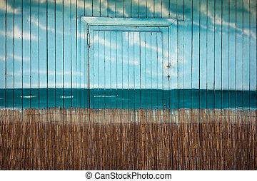 parede, nuvens, placas, figura, mar