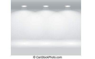 parede, painéis, iluminado, coloridos