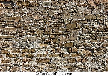 parede, pedra, antiga, fundo