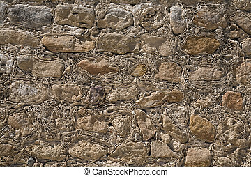 parede, pedra, antiga, textura
