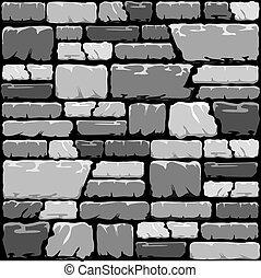 parede, pedra, cinzento, fundo