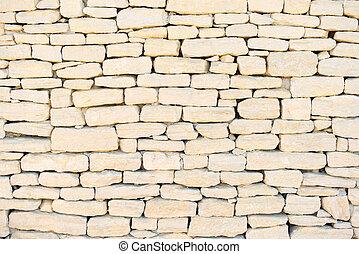 parede pedra, fundo, padrão, textura, wallpaper., exterior, construção, em, provence, cote, azur, frança, europe.