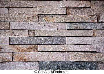 parede, pedra, layered, tiro, fundo