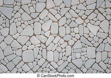 parede pedra, padrão, abstratos, cinzento, textura