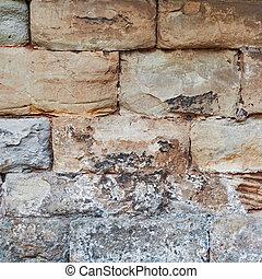 parede, pedra, pedra calcária, medieval